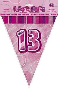 Pink 13th Birthday Bunting