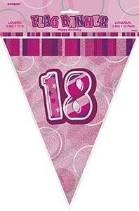 Pink 18th Birthday Bunting