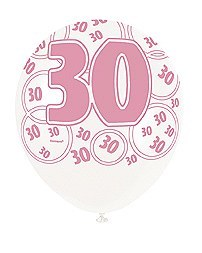 Pink 30th Birthday Balloons