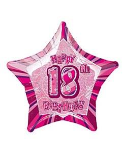 Pink Glitz 18th Balloon