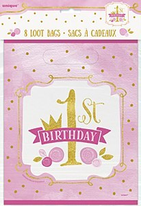 Pink & Gold 1st Party Bags