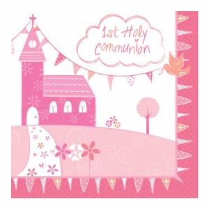 Pink Church Communion Napkin