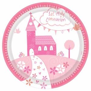 Pink Church Communion Plate