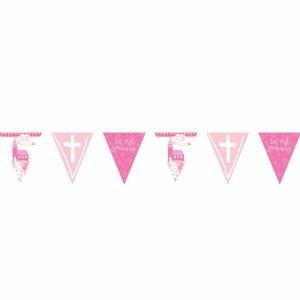 Pink Church Pennant Banner