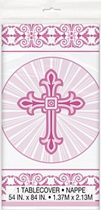 Pink Cross Tablecover
