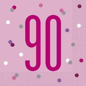 Pink Dot Glitz 90th Napkins