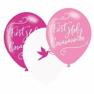 Pink Dove Communion Balloons