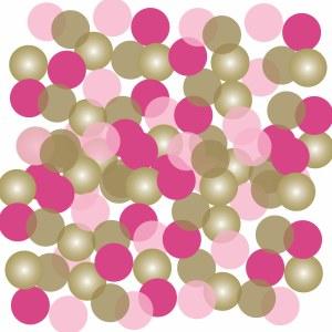 Pink Dove Dots Confetti