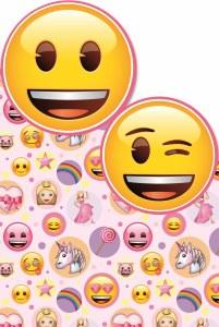 Pink Emoji Card