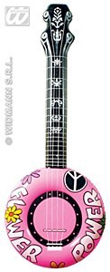 Pink Inflatable Banjo