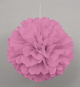Pink Puff Ball Decoration