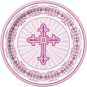 Pink Radiant Cross Plates