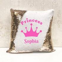 Princess Magic Sequin Cushion