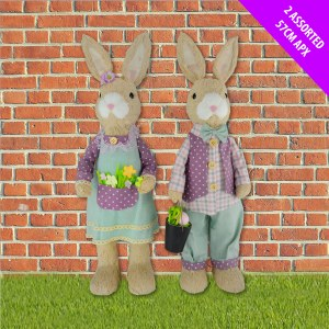 Purple Mr & Mrs Bunny