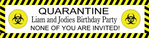 Personalised Quarantine Banner