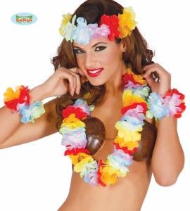 Rainbow Lei Hawaiian Set
