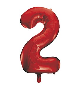 Red Number 2 Balloon