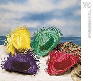 Red Straw Gringo Hat