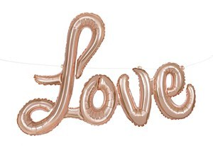 Rose Gold Love Banner Kit