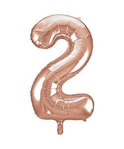 Rose Gold Number 2 Balloon