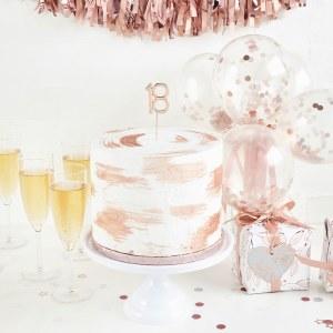 Rose Gold 18th Cake Topper