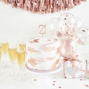 Rose Gold 21st Cake Topper