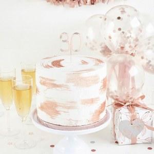 Rose Gold 30th Cake Topper