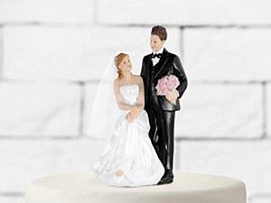 Sitting Bride Cake Topper
