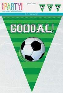 Soccer Flag Birthday Banner