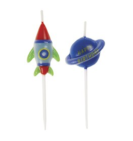 Space Party Candles