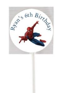 15PK Spiderman Lollipops
