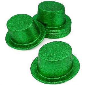 St Patricks Glitter Top Hat