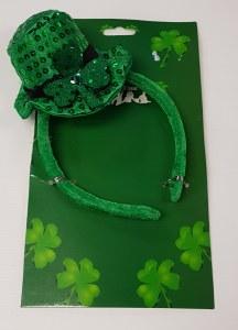St Patrick Sequin Hat Headband