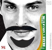 Black Adhesive Arab Moustache