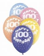 100th Birthday Helium Balloons