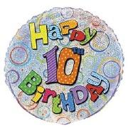 10th Birthday Foil Balloon