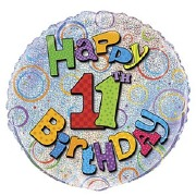 11th Birthday Foil Balloon