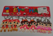 12PK Dolls Keyrings