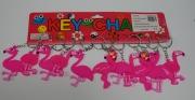12Pk Flamingo Keyrings