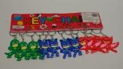 12Pk PJ Masks Keyrings