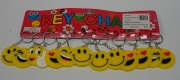 12Pk Smiley Faces Keyrings