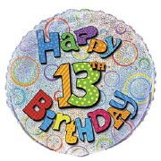 13th Birthday Foil Balloon
