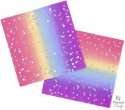 Rainbow Ombre Party Napkins