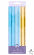 Blue And Gold Party Straws
