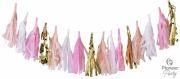 Pink, White & Gold Tassels