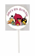 15PK Angry Birds Lollipops