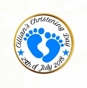 15PK Christening Boy Choc Coin
