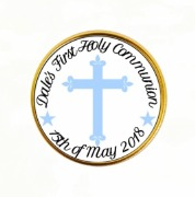 15PK Boys Communion Choc Coins