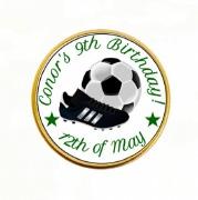 15PK Bday Soccer Choc Coins