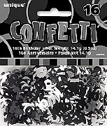 16th Black Confetti